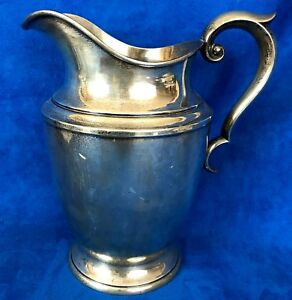 Vintage Alvin Sterling Silver Water Pitcher S83 1 4 1 2 Pints