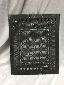 Antique Gothic Grill Floor Vent Cold Air Return Cast Iron Grate 12x15 478 18c