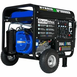 Duromax Xp10000eh 10000 Watt Dual Fuel Electric Start Portable Generator