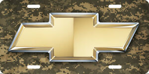 Chevy Vehicle Front License Plate Auto Tag Printed Camo Aluminum 0099