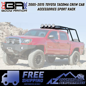 Body Armor 4x4 2005 2015 Toyota Tacoma Crew Cab Bed Accessories Sport Rack