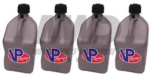 4 Vp Racing Silver 5 Gallon Square Fuel Jugs water Container jerry Gas Can