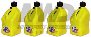 4 Vp Racing Yellow 5 Gallon Square Fuel Jugs water Container jerry Gas Can