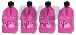 4 Vp Racing Pink 5 Gallon Square Fuel Jugs utility Water Container jerry Gas Can