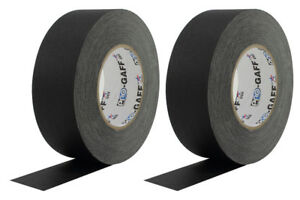 2 Pack 2 Inch Black Pro Gaffers Tape 55 Yd Rolls