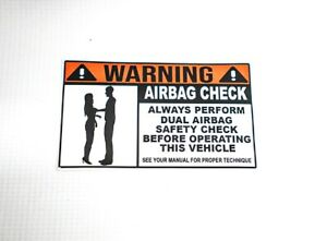Warning Air Bag Check Boobs Bumper Sticker Funny Driver Daily Jdm Rules