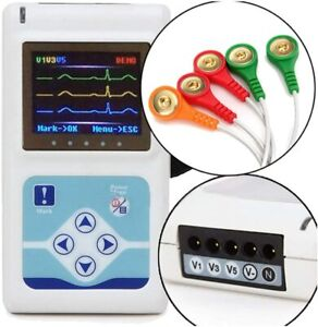 Tlc9803 Holter Ecg ekg Dynamic 3 Channel 24 Hours Recorder analuzer Pc Sw