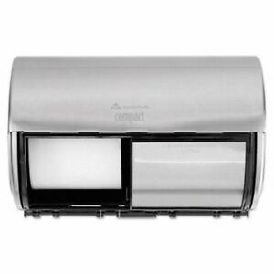 Georgia Pacific Compact Horizontal 2 roll Toilet Paper Dispenser gpc56798