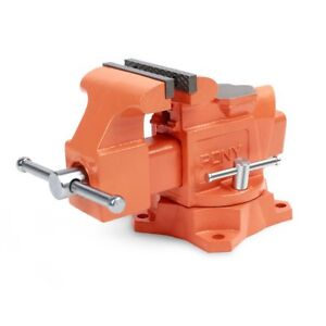 Pony 4 inch Heavy Duty Bench Vise Jaw Width 4 inch Throat Depth 2 5 8 inch