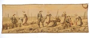 Antique Vintage French Tapestry 18 X 54