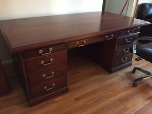 Executive Office home Desk With A File Cabinet And Chair Nbf Signature Series