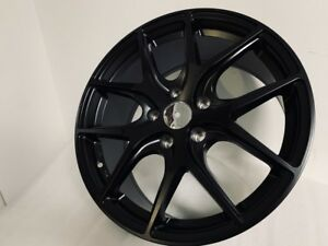 18x8 5 Satin Black Vx Style Rims Wheels Fits Audi A3 A4 S3 S4 Vw Gti Gli