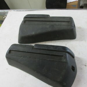68 69 Chevelle Gto 442 Black Rear Arm Rest Assemblies With Pads And Ash Trays