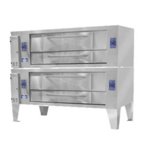 Bakers Pride Y 802bl Super Deck Y Series Brick Lined Double Deck Pizza Oven