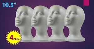 10 5 Wig Styrofoam Head Foam Mannequin Display 4pc
