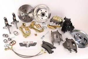1964 1972 Gm A F X Body Disc Brake Conversion Kit 9 Booster Drilled Rotors