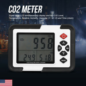 Digital Co2 Meter Monitor Detector Gas Analyzer Temperature Humidity Tester