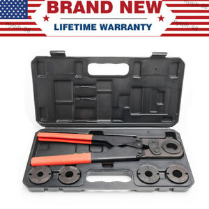Us Stock Pex Pipe Crimping Tool Kit For 3 8 5 8 1 2 3 4 1 With Free Hard Case
