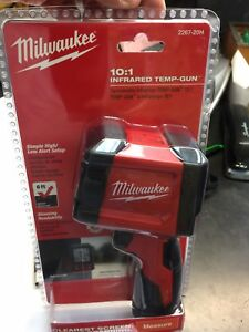 new Milwaukee 10 1 Infrared Thermometer Lcd Display Temperature Gun 2267 20h