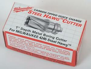Milwaukee Steel Hawg Quick change Tang Drive Hole Cutter 13 16 In Dia