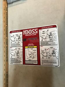 Boss Snow Plow Rt3 Straight Blade Decal For Mounting Instructions Free Shipping