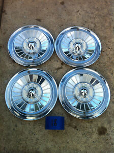Set Of Four 1957 Ford Galaxie Fairlane Hub Caps Wheel Covers Hubcaps C