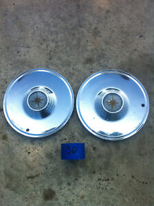 Set Of Two 1957 56 Lincoln Premier Hub Caps Wheel Covers Hubcaps Set 32