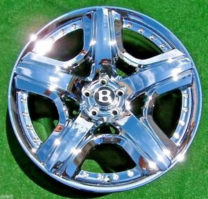 New Chrome Oem Factory Bentley Mulliner 21 In Wheels Flying Spur Continental Gt