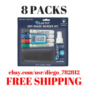 Quartet Classic Dry erase Kit W chisel tip Markers markers Eraser Spray Cleane