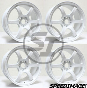 4x Gram Lights 57dr 18x9 5 38 5x114 3 White Set Of 4 Wheels Wheel