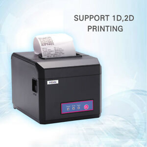 Hoin 80mm 58mm Pos Dot Receipt Paper Barcode Thermal Printer Usb lan Port J1f6