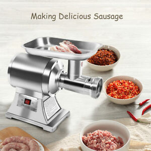 1hp Commercial Grade Electric Meat Grinder 1100w Industrial Meat Slicer Machine