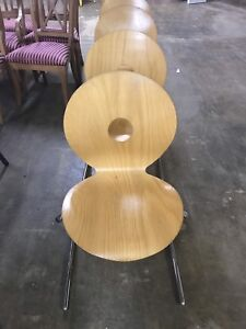 Eames Palmer Hamilton Molded Plywood Set Dining Chairs