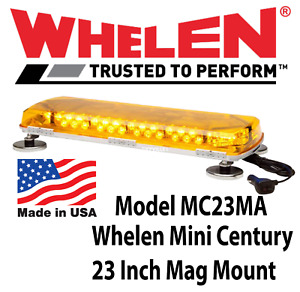 Whelen Century Led Mini Lightbar Amber Magnetic Mc23ma Construction Snow Plow