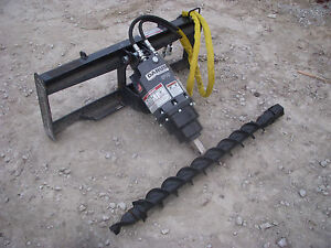 Bobcat Skid Steer Attachment Danuser Ep 10 Hex Auger With 4 Bit Ship 199