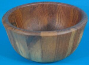 Dansk International Modern Staved Teak Salad 10 Bowl