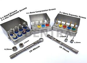 Bone Expander Compression Screw Drivers torque Wrench Ratchet Dental Implant Set