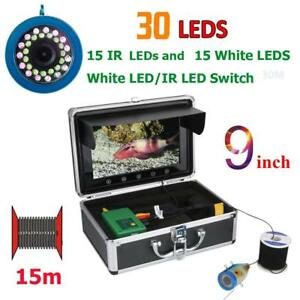 9 Inch 15/30/50M Fishing Camera 1000TVL LEDs Fish Finder Underwater Sea Fishing