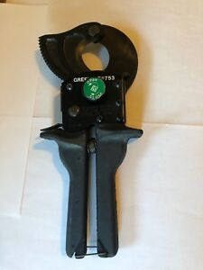 Greenlee 753 Compact Ratchet Cable Cutter free Shipping