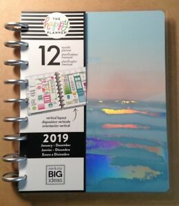 New Happy Planner coastal Classic 2019 12 month Planner Vertical