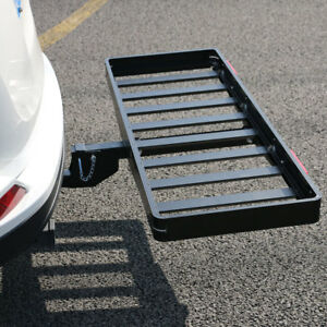 500lbs Folding Receiver Hitch Cargo Carrier 50 X 20 Premium Aluminum steel