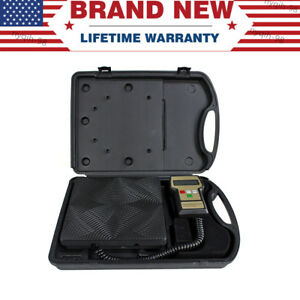 Us 220 Lbs Electronic Refrigerant Charging Digital Weight Scale W Case For Hvac