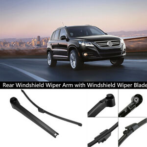 Windshield Rear Back Wiper Arm With Blade Replacement Kit For Vw Golf