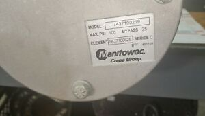 Oe Nos 7437100219 Manitowoc Grove Crane Filter Assembly