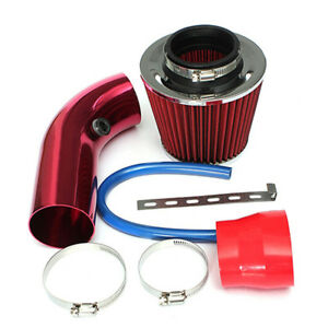 Universal Car Cold Air Intake Filter Induction Hose Pipe System Red P3y9