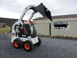 2012 Bobcat S185 Rubber Tire Skid Steer Loader Kubota Diesel 66 Hp Cab Heat Air