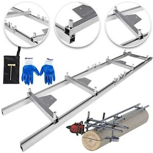 Chainsaw rail Mill Guide System 9ft 2 7m 4 Reinforce First Cut 6x3ft Saw Mill