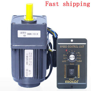 220v 15w Ac Gear Motor Electric Motor Variable Speed Controller 1 10 125rpm