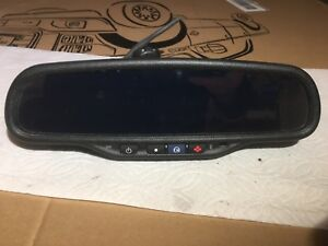 00 02 Chevy Silverado Gmc Sierra Rear View Mirror Compass Temp Oem 11220ea