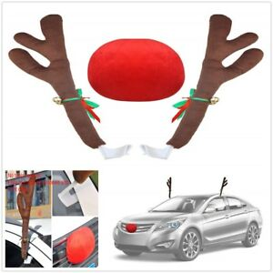 Lovely And Fashion Reindeer Antlers With Jingle Bell Car Christmas Decorations